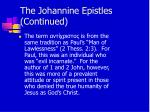 the johannine epistles continued13