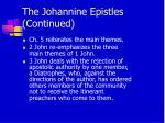 the johannine epistles continued15