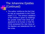the johannine epistles continued5