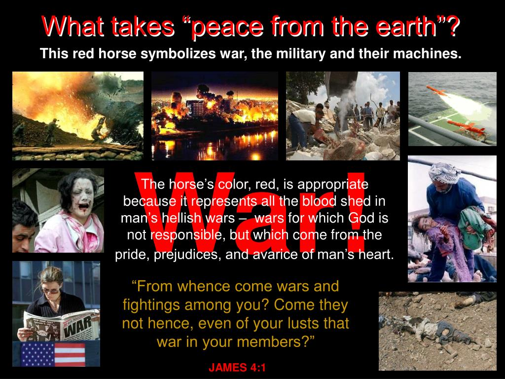 "What takes ""peace from the earth""?"