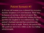 patient scenario 3