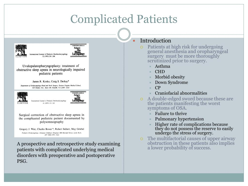 Complicated Patients