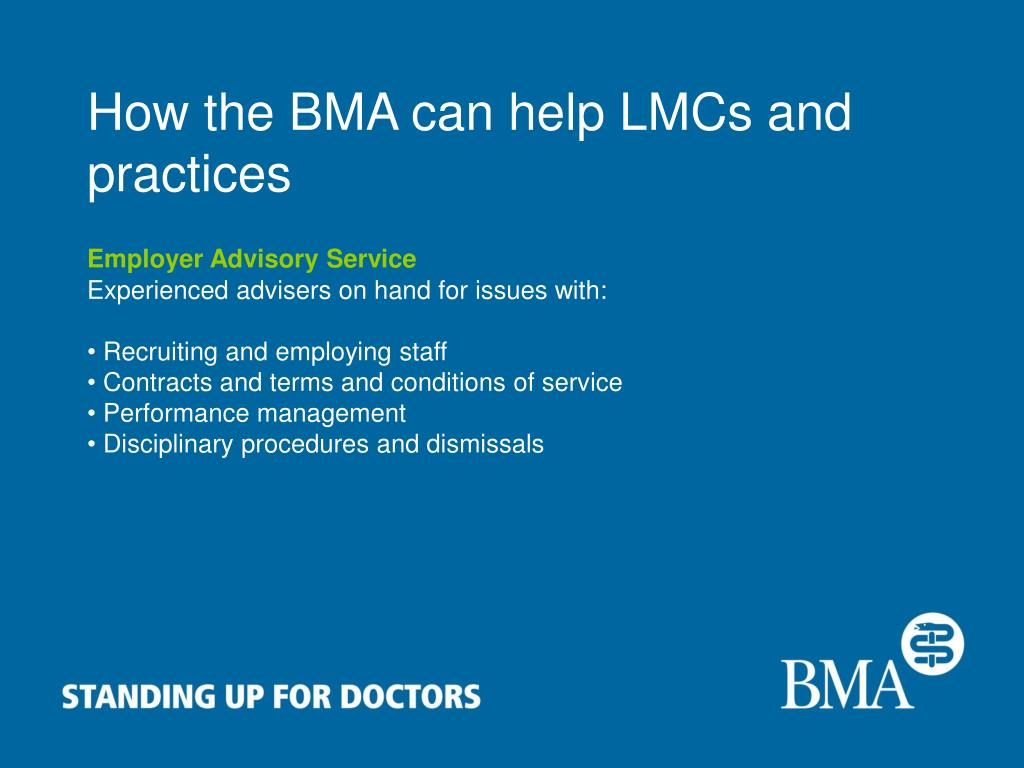 How the BMA can help LMCs and practices