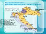 institutional infrastructure of the croatian innovation system initiated by the mses