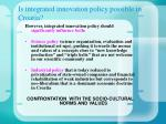 is integrated innovation policy possible in croatia