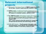 relevant international projects