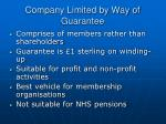 company limited by way of guarantee