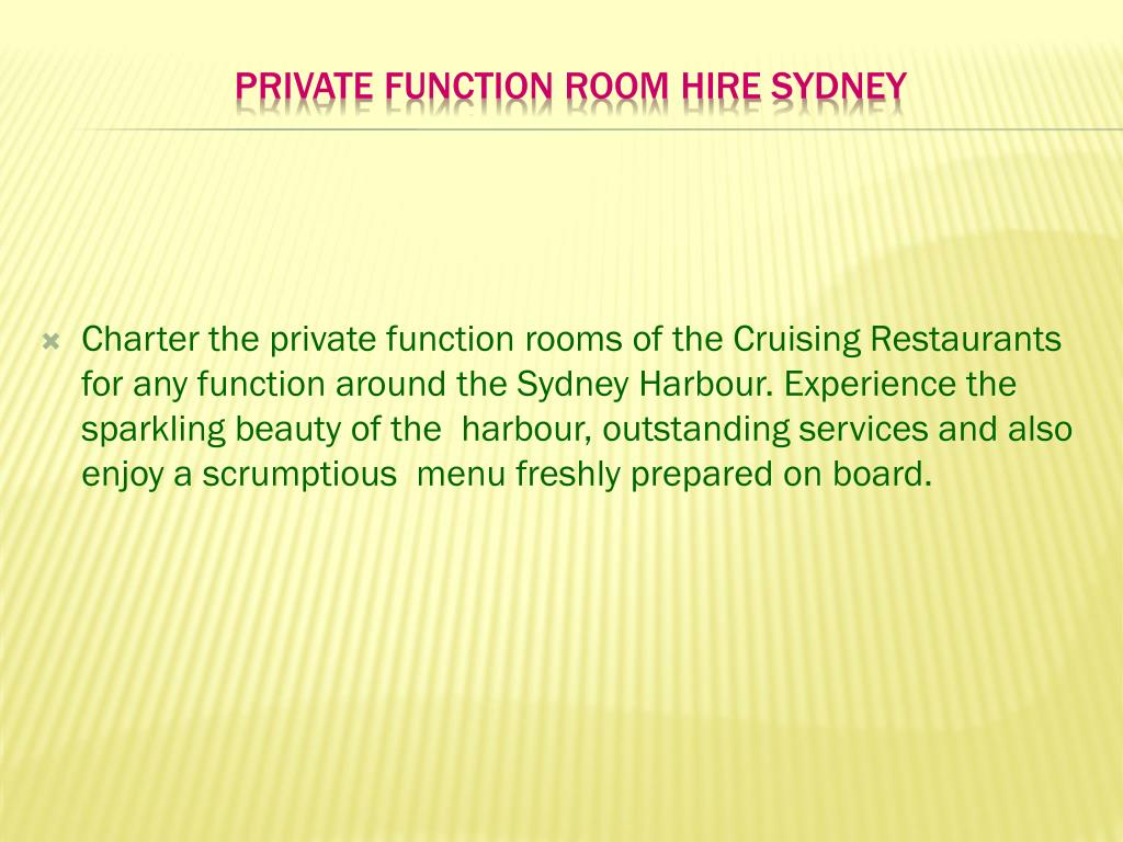 private function room hire sydney l.