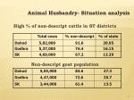 animal husbandry situation analysis