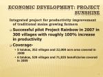 economic development project sunshine