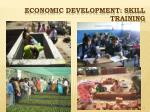 economic development skill training