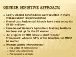 gender sensitive approach
