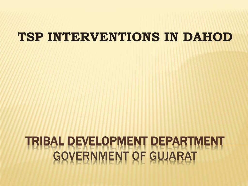 tsp interventions in dahod l.