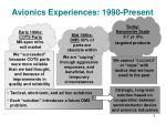 avionics experiences 1990 present