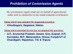 prohibition of commission agents