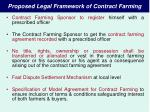 proposed legal framework of contract farming