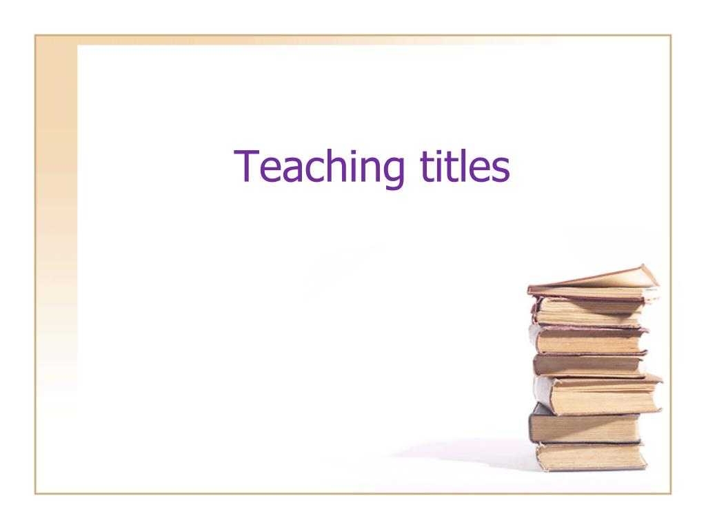 teaching titles l.