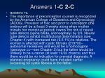 answers 1 c 2 c