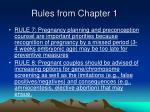 rules from chapter 1