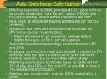 auto enrollment safe harbor
