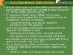 auto enrollment safe harbor7