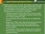 cash balance hybrid plans