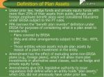 definition of plan assets