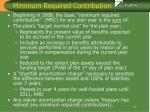 minimum required contribution