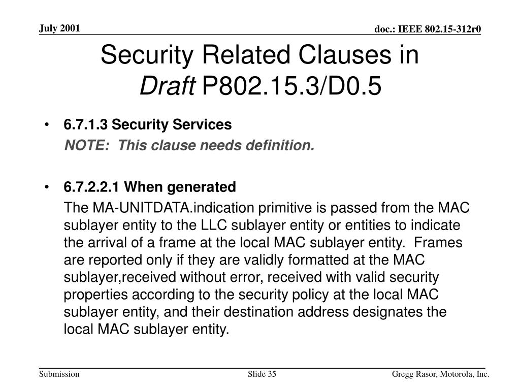 Security Related Clauses in