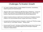 challenges to aviation growth