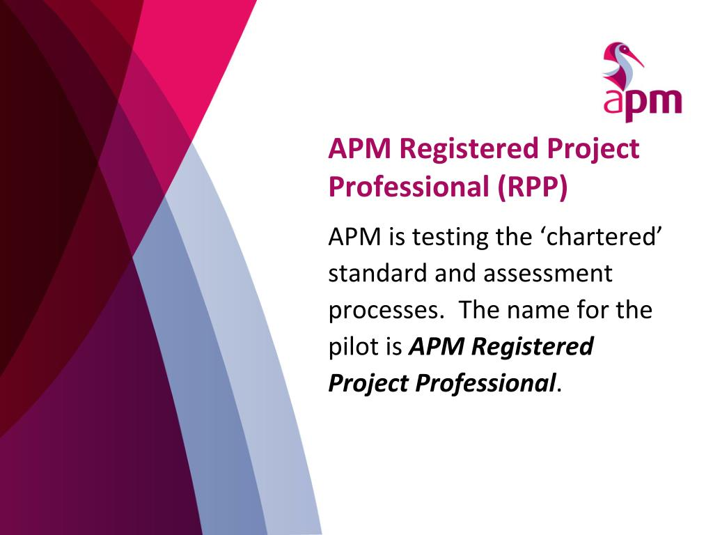 APM Registered Project Professional (RPP)