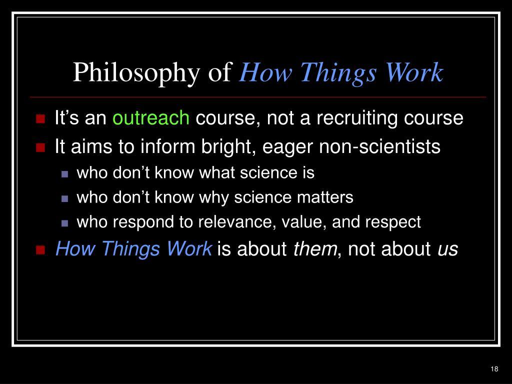 Philosophy of