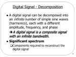 digital signal decomposition