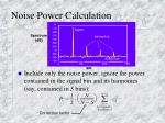 noise power calculation