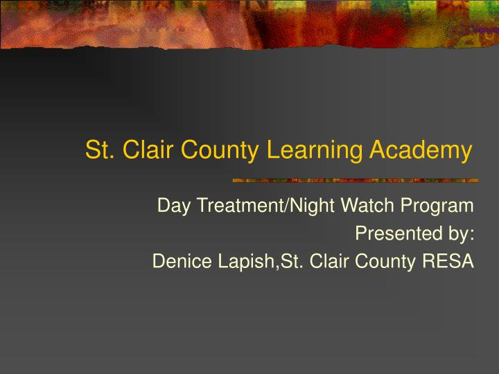 st clair county learning academy n.