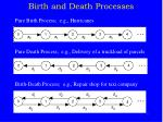 birth and death processes