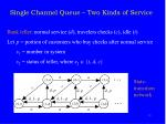 single channel queue two kinds of service