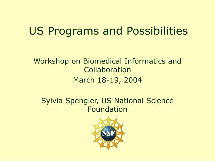 us programs and possibilities n.