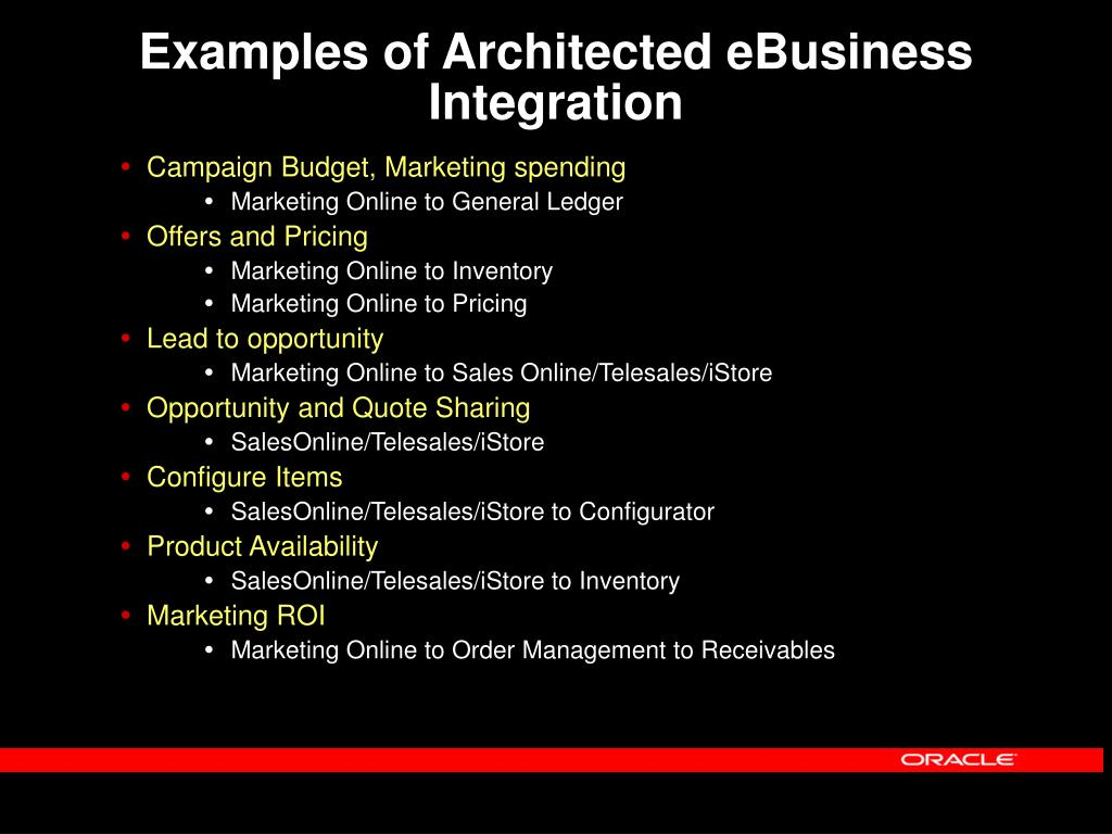 Examples of Architected eBusiness Integration