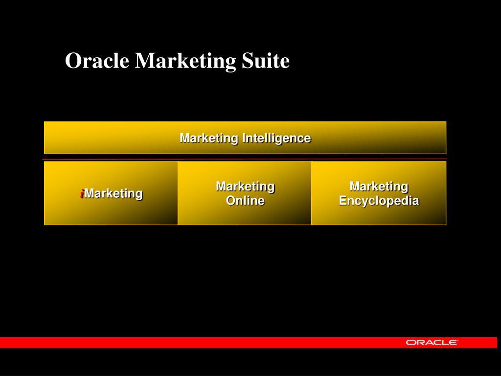 Oracle Marketing Suite