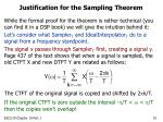 justification for the sampling theorem