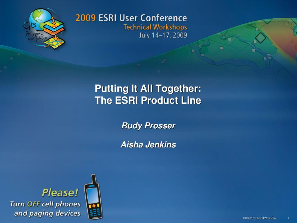 putting it all together the esri product line l.