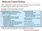 multi rate control systems