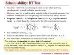 schedulability rt test