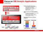 focus on obi analytic applications overview