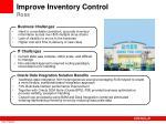improve inventory control ross