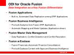 odi for oracle fusion data integration as a key fusion differentiator
