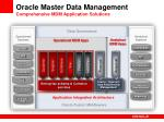 oracle master data management comprehensive mdm application solutions