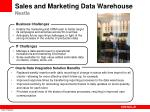 sales and marketing data warehouse nestle
