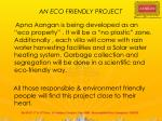 an eco friendly project